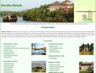 hotelsinkerala.net screenshot