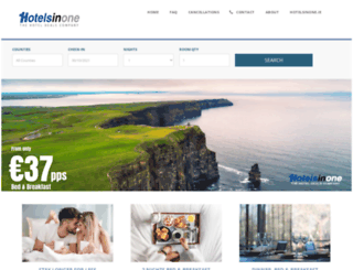 hotelsinone.ie screenshot