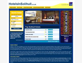 hotelsinsolihull.co.uk screenshot