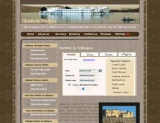 hotelsinudaipur.com screenshot