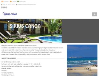 hotelsiriuscanoa.com screenshot