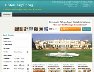 hotelsjaipur.org screenshot