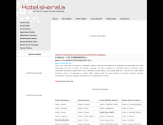 hotelskerala.com screenshot