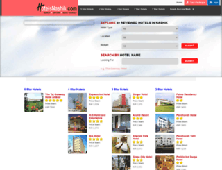 hotelsnashik.com screenshot
