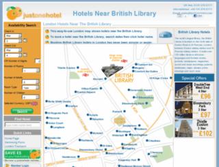 hotelsnearbritishlibrary.co.uk screenshot