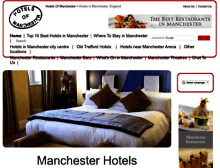 hotelsofmanchester.com screenshot