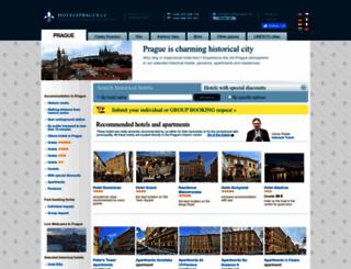 hotelsprague.cz screenshot
