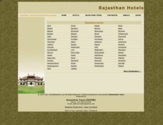 hotelsrajasthan.com screenshot
