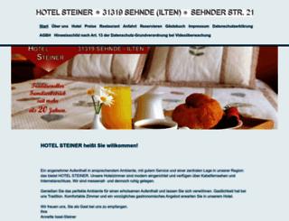 hotelsteiner.de screenshot