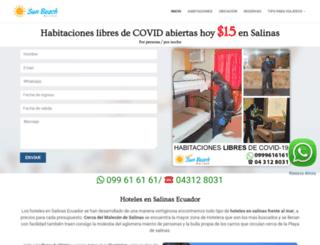 hotelsunbeachsalinas.com screenshot