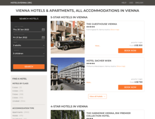 hotelsvienna.org screenshot