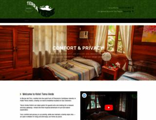 hoteltierraverde.com screenshot