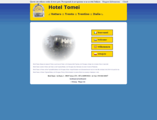 hoteltomei.it screenshot