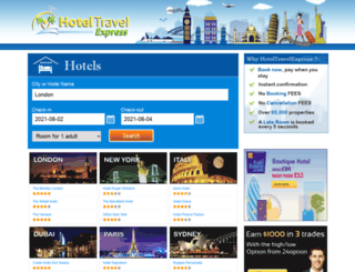 hoteltravelexpress.com screenshot