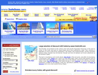 hoteluae.com screenshot