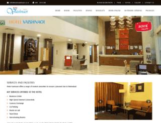 hotelvaishnaoi.co.in screenshot
