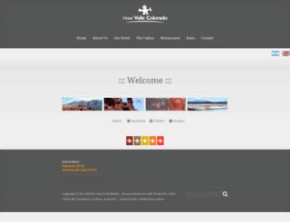 hotelvallecolorado.com screenshot