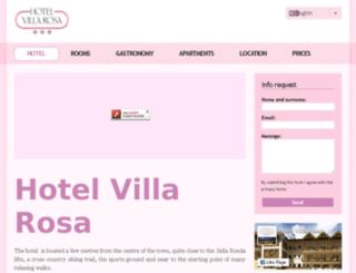 hotelvillarosa.net screenshot