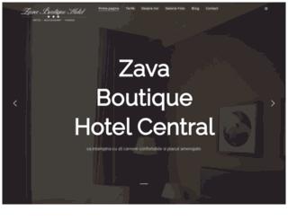 hotelzava.ro screenshot