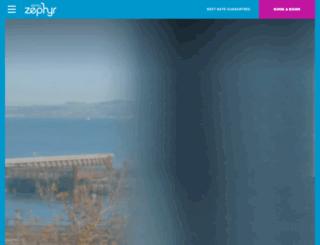 hotelzephyrsf.com screenshot