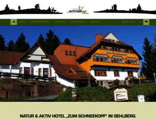 hotelzumschneekopf.de screenshot