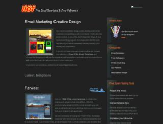 hotemailtemplates.com screenshot
