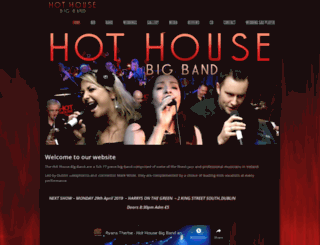 hothousebigband.com screenshot