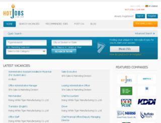 hotjobs.com.mm screenshot