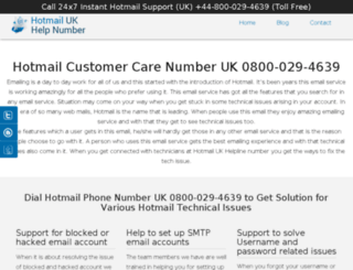 hotmail-help-number.uk screenshot
