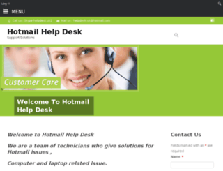hotmailhelpdesk.co.uk screenshot