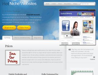 hotnichewebsites.com screenshot