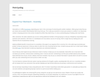 hotriyabig.wordpress.com screenshot