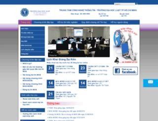 hotrosinhvien.hcmulaw.edu.vn screenshot