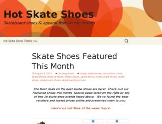hotskateshoes.com screenshot