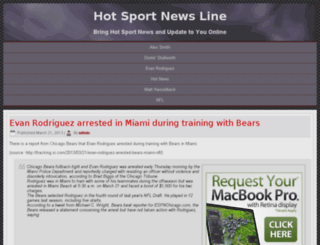 hotsportnewsline.com screenshot