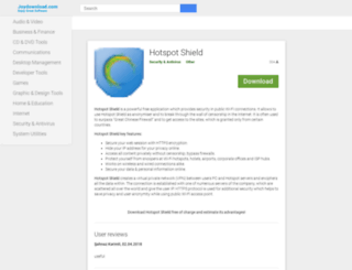 hotspot-shield.joydownload.com screenshot