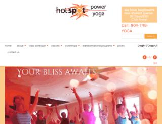 hotspotpoweryoga.liveeditaurora.com screenshot