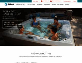 hotspring.co.uk screenshot