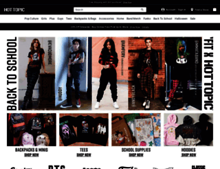hottopic.com screenshot