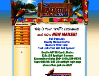 hotwebsitetraffic.com screenshot