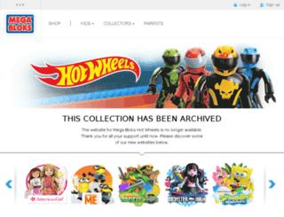 hotwheels.megabloks.com screenshot