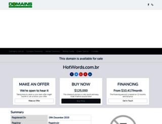 hotwords.com.br screenshot