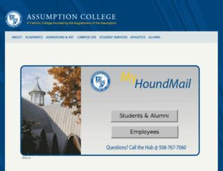 houndmail.assumption.edu screenshot