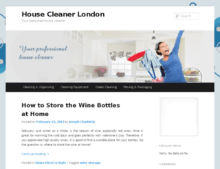 housecleanerlondon.com screenshot