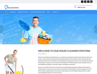housecleaningperthwa.com.au screenshot
