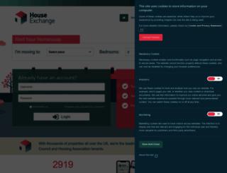houseexchange.org.uk screenshot