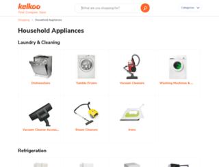 householdappliances.kelkoo.co.uk screenshot