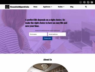 householdtipsntricks.com screenshot