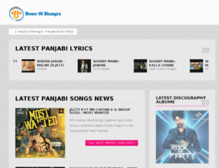 houseofbhangra.com screenshot