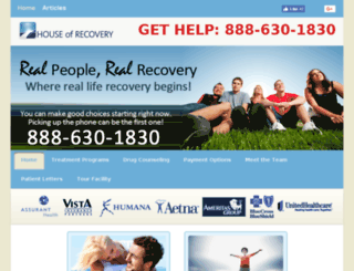 houseofrecovery.org screenshot
